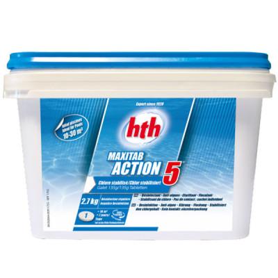 1 Hth Minitab Action 5 135g au chlore stabilisé