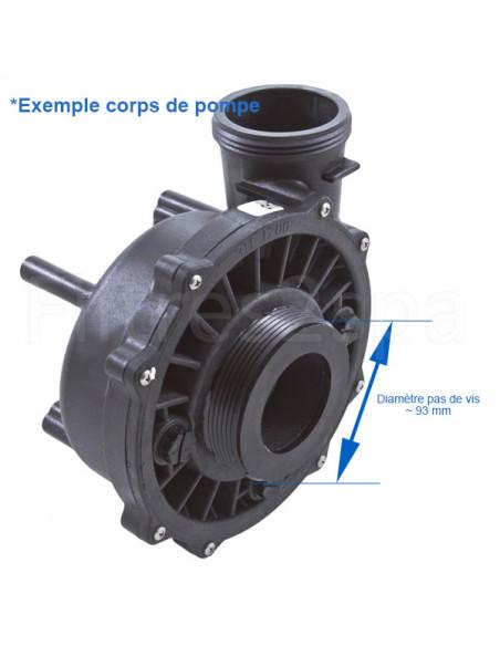 4 Union de pompe spa 2.5 pouces pour tuyau 2 pouces