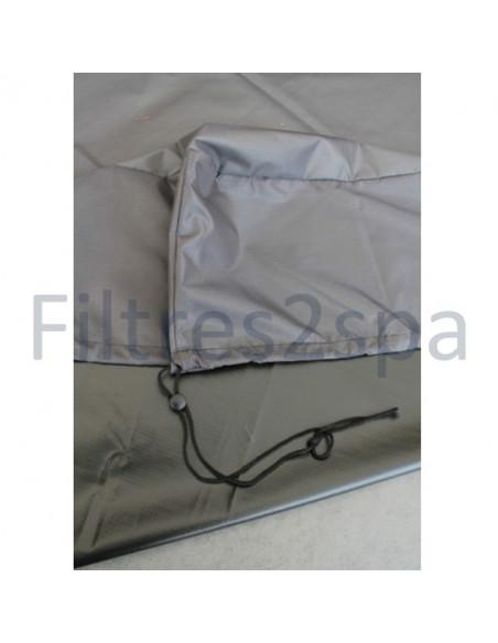 4 Bâche couverture spa 225 cm x 225 cm