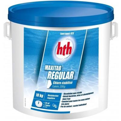 1 Hth Maxitab Régular 200g en 10kg chlore stabilisé