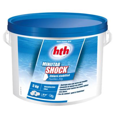1 Hth Minitab Shock Chlore stabilis? piscine 5kg