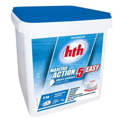 1 Hth Maxitab Action 5 Easy 5kg Chlore stabilis? en galets 200g
