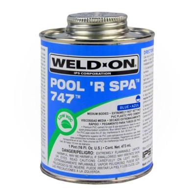 1 Colle bleue tuyau PVC piscine et spa IPS pot 473mL
